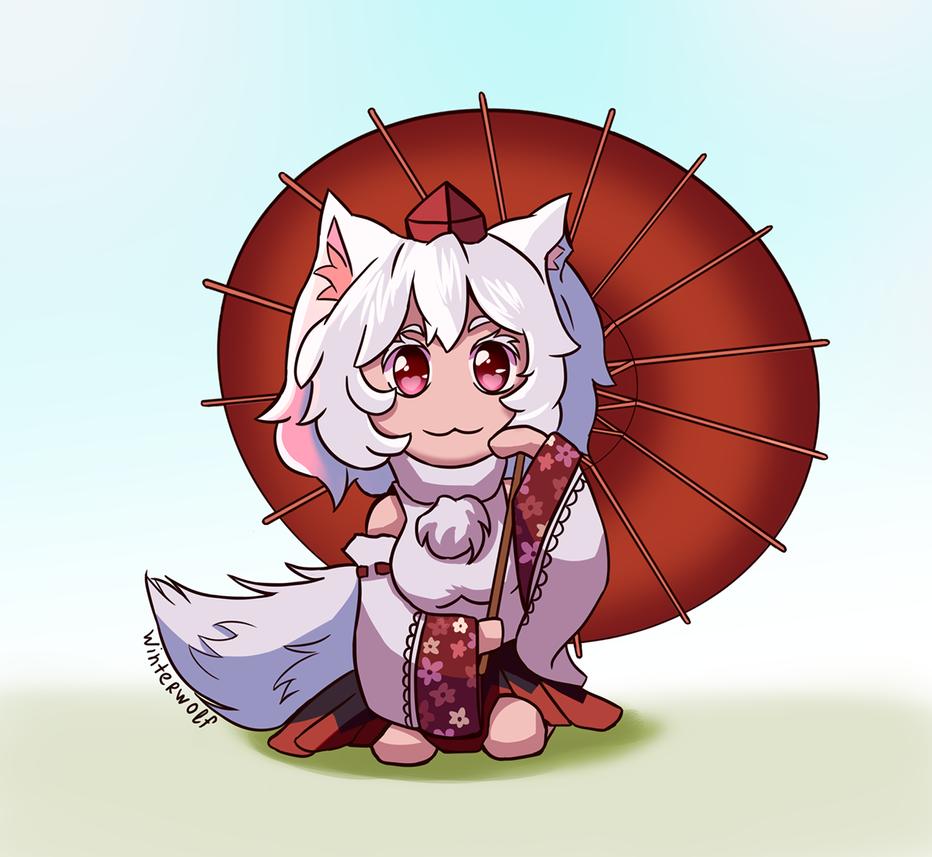 Iniubashiri Momiji chibi by winterwolf38