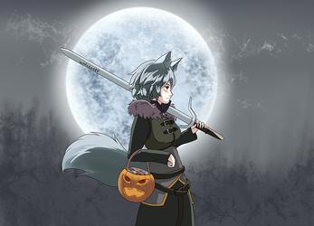 Halloween Momiji Witcher by winterwolf38