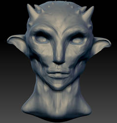 First 3D model - Frontview by Gemmabee