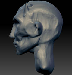First 3D model - Sideview by Gemmabee