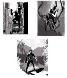 Master studies - thumbnails by Gemmabee