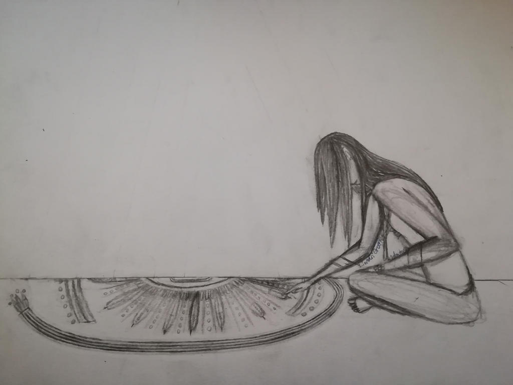 The Sand Painting(uncoloured)
