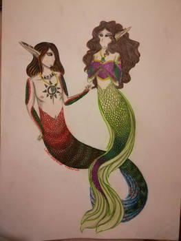Mermaid Sebar and Abigail