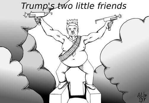 Trumps two little friends