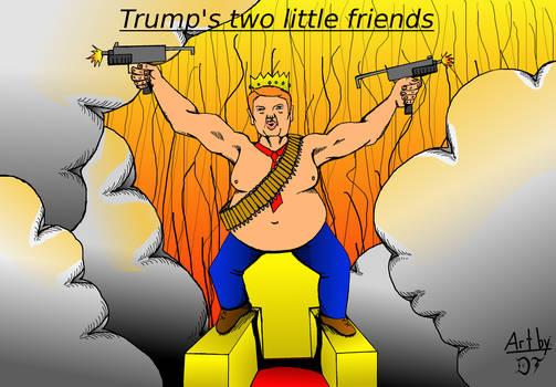 Trumps two little friends (coloured)