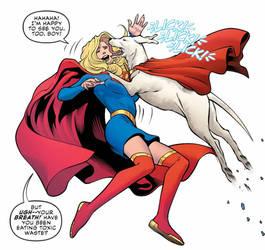 krypto licks supergirl