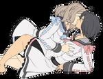 Amaya and Hiyoko Kiss