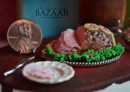 Honey Glazed Ham 1:12 Scale