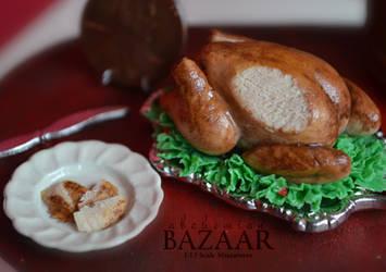 Roasted Turkey 1:12 Scale by TheMiniatureBazaar