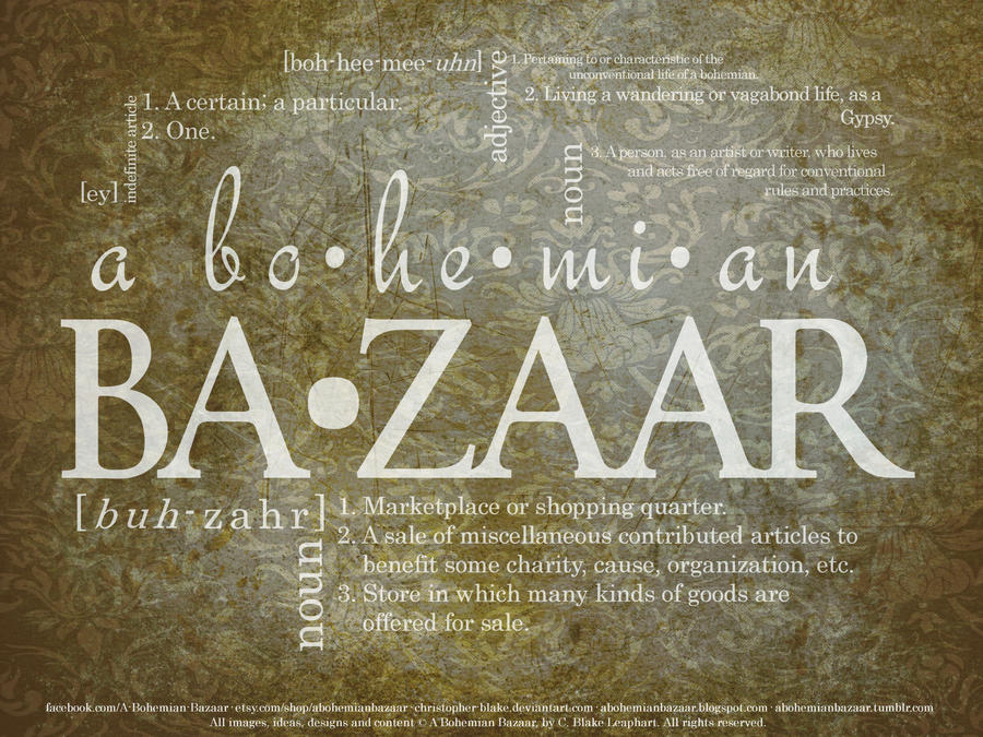 A Bohemian Bazaar - Definition by TheMiniatureBazaar