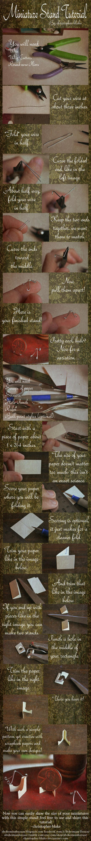 Miniature Stand Tutorial (For Pennies or Plates) by TheMiniatureBazaar