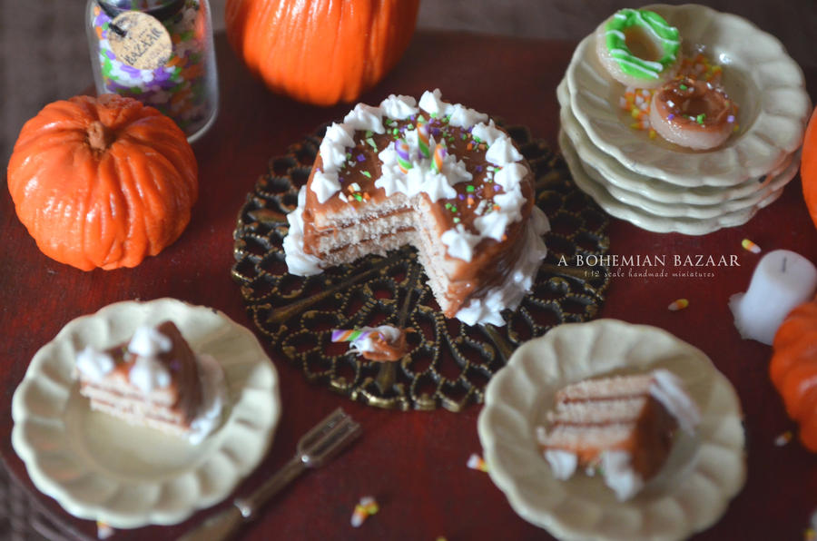 Chocolate Halloween Cake - Halloween 2012 by abohemianbazaar