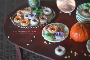 Halloween Doughnuts - Halloween 2012 by TheMiniatureBazaar