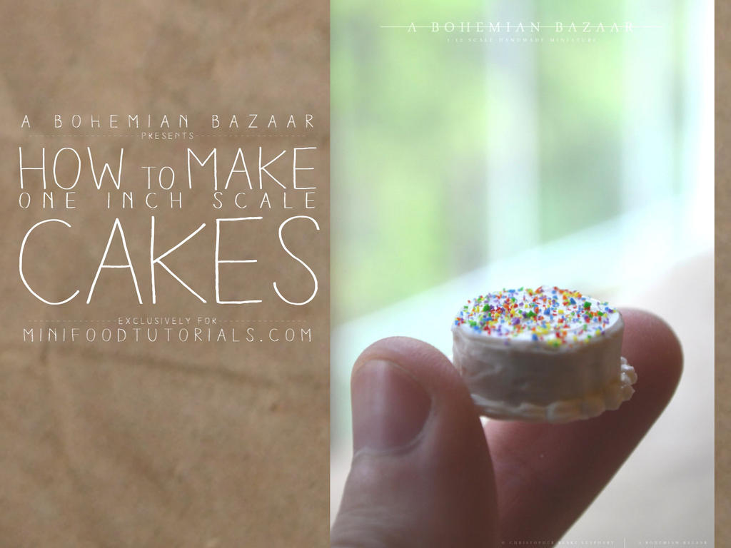 TUTORIAL - how to make 1:12 scale miniature cakes by TheMiniatureBazaar