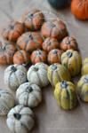 crackled pumpkin decorations - 1:12 scale