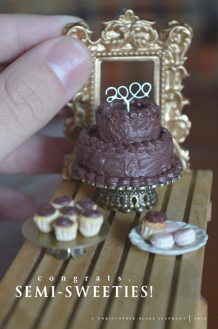 Happy 2000 Members, Semi-Sweeties! by abohemianbazaar