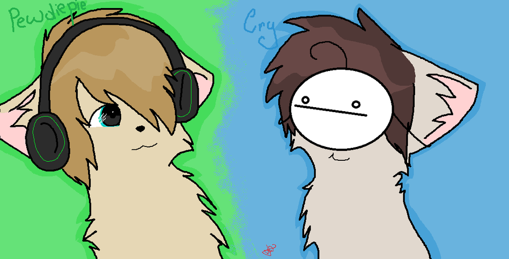 Pewdiepie and Cry by Tecmaya on deviantART