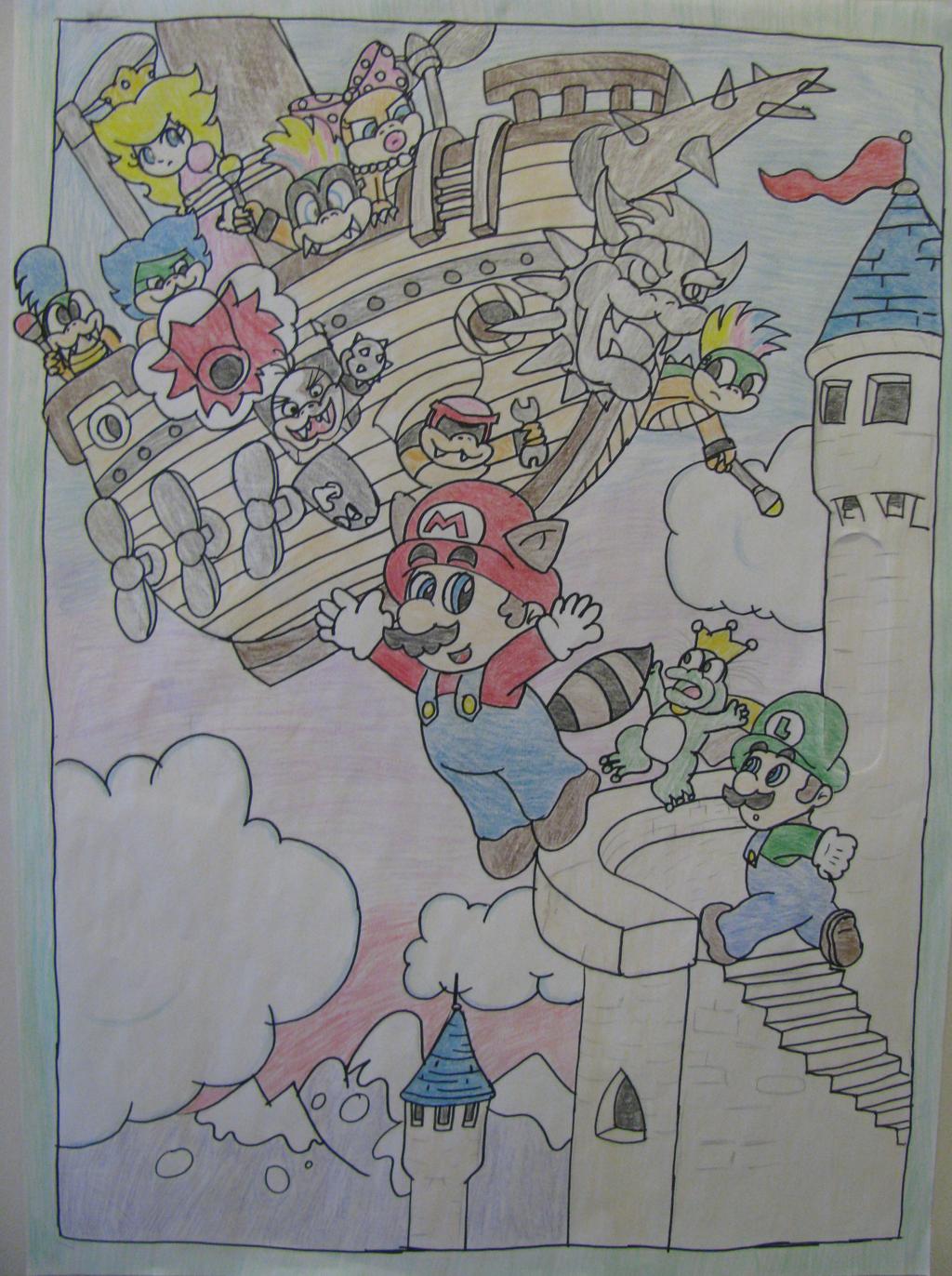 SMB3 Poster by KookyShyGirl88