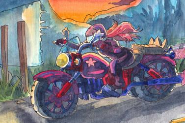 sakura bike by rainbow010101