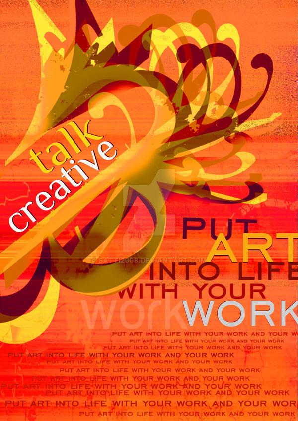 typography-creative talk by satti2008