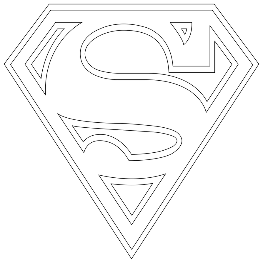 Pin Superman Logo Stencil Template on Pinterest
