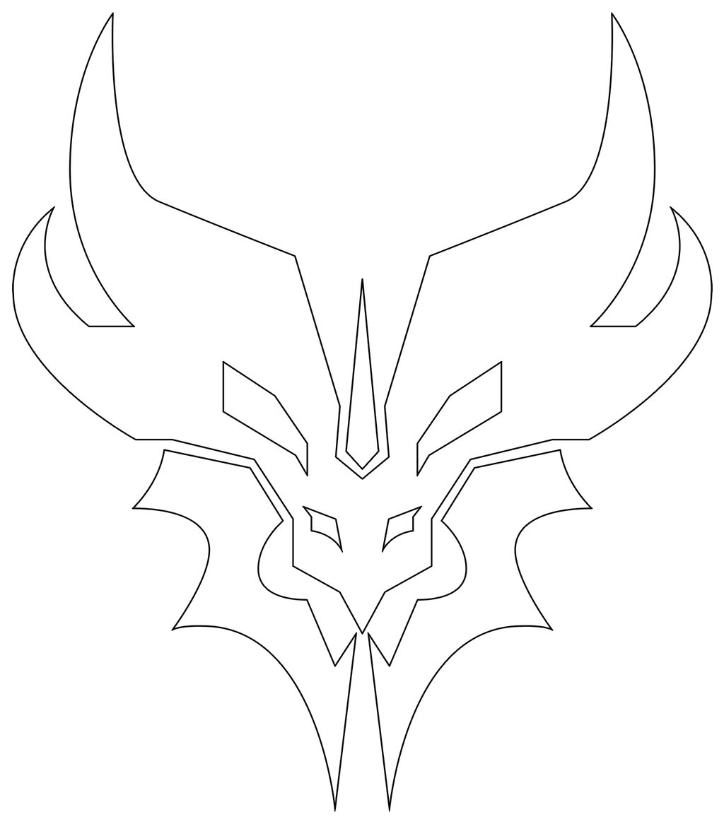 transformers prime predacon symbol outline by mr