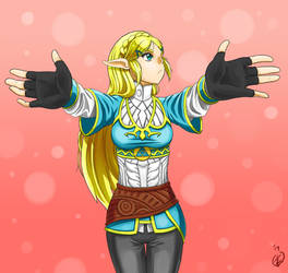 A hug from Princess Zelda