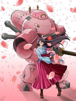 Shin Sakura Taisen fanart - Amamiya Sakura