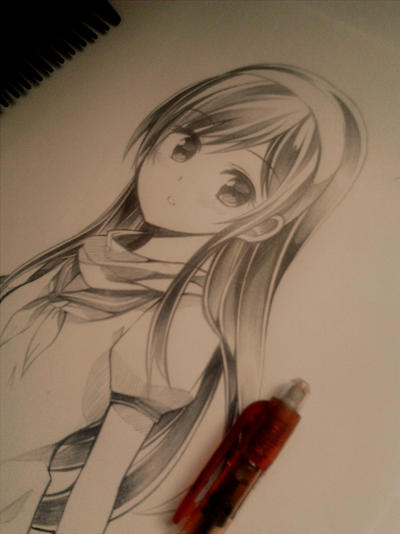 random schoolgirl by Ryo-Thae