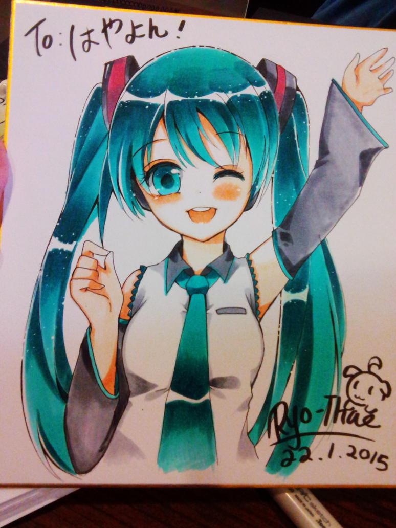Hatsune Miku -Copic Artwork by Ryo-Thae