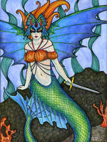 Masked Mermaid by BobbieBerendson