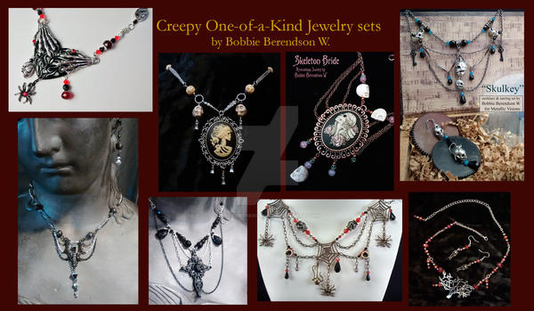 Creepy jewelry by BobbieBerendson