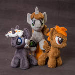 Chibi plush Littlepip, Calamity and Velvet Remedy