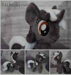Plush pony Monochrome Sunset 10 inches