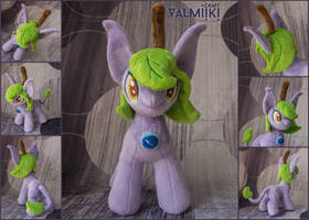 Plant fairy pony plushie 10 inches by Valmiiki