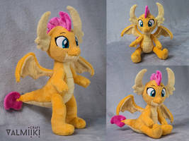 Smolder the Dragon Plush by Valmiiki