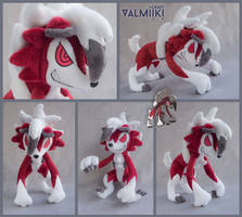 Plush pokemon Lycanroc by Valmiiki