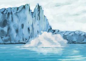 Falling Glacier by X-AEL