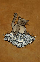 Cat in the clouds by Lysandr-a