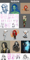 Daily doodles 2014-10 by Lysandr-a