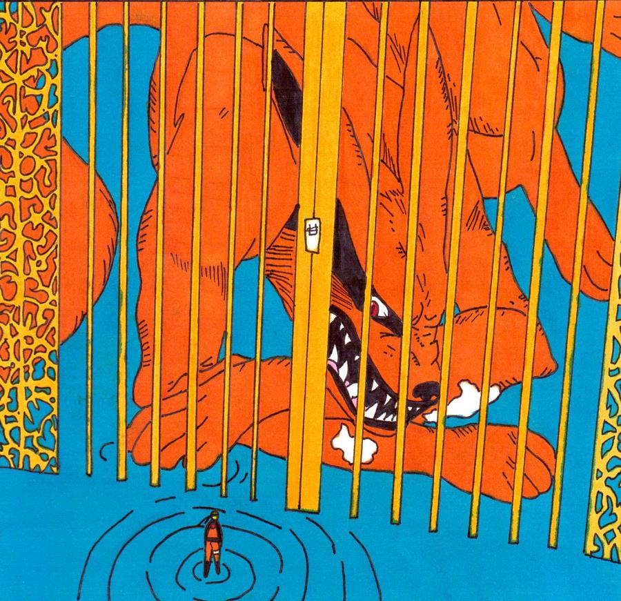 kyubi behind bars by frecklesmile