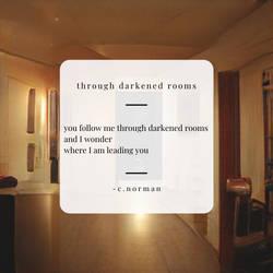 through darkened rooms