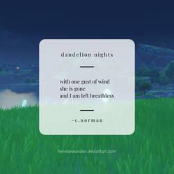 dandelion nights