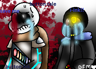 buttontale ( button me) button ink by foxytheskeleton