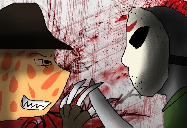 Freddy VS Jason by Dancing-Gothitas
