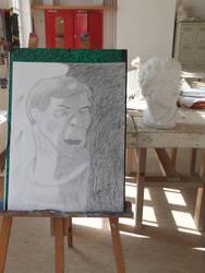 Graphite pencil sketch : Portrait 1