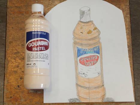 Graphite pencil sketch : The paint