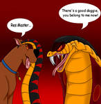 jafar and scooby : trade art from solitarygraywolf