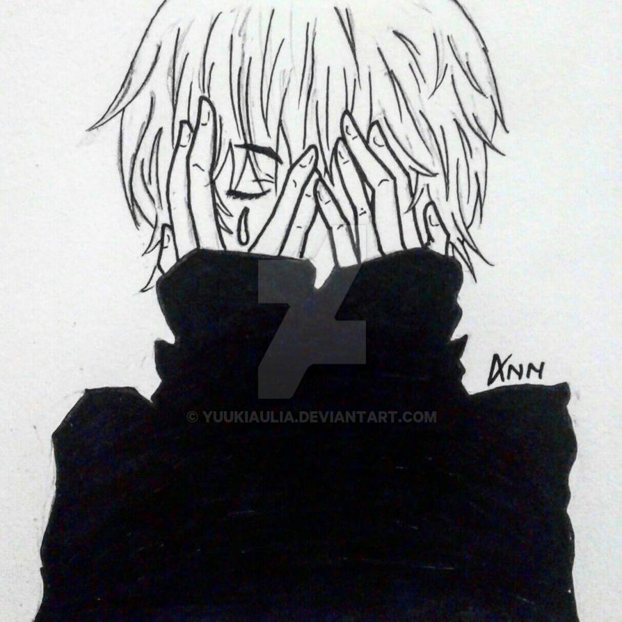 73+ Gambar Anime Boy Sedih HD