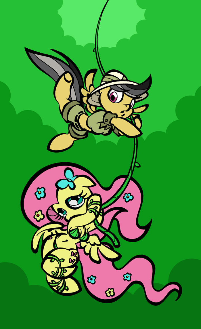 Daring Do and the Rainforest Monarch by toonbat